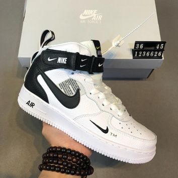 Nike Air Force 1 Mid AF1 high-top men s and women s wild fashion c6f43dde88