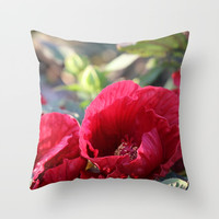 Kingdom Of Red Throw Pillow by Theresa Campbell D'August Art