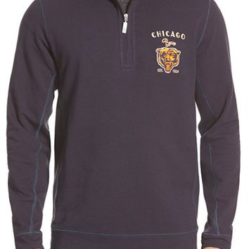 Men's Tommy Bahama 'Ben & Terry - Chicago Bears' NFL Quarter Zip Pullover,
