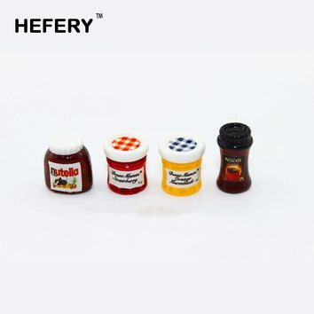 1/12 Dollhouse Miniature Accessories Mini Nutella Jam Coffee Simulation Furniture Kitchen Food Condiment Toys Doll House Decor