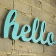 SALE hello script handmade wood sign  wall by OhDierLiving on Etsy