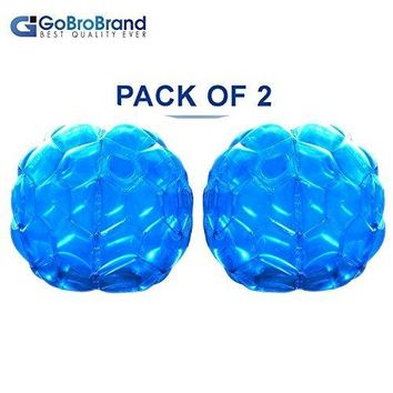 GoBroBrand Bubble Bumper Balls 2 pack of Inflatable Buddy hamster Bbop Ball set