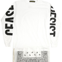 Cease & Desist - White Long Sleeve Extendo - T-Shirts, T-Shirts, Cease & Desist - KNYEW Clothing Boutique