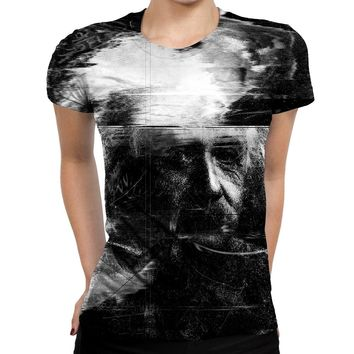 Distorted Einstein Womens T-Shirt