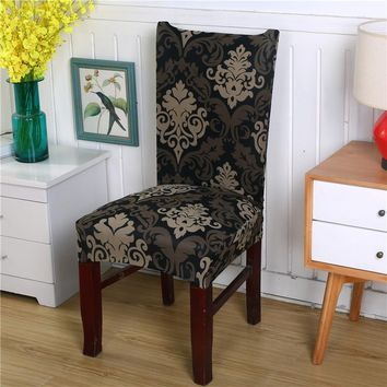 Printed Chair Covers - Patterned Stretch Elastic Slipcovers Removable