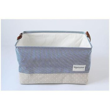 Square Storage Basket with drawstring & handle