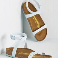 The Gist of Minimalist Sandal in Powder Blue - Narrow | Mod Retro Vintage Sandals | ModCloth.com
