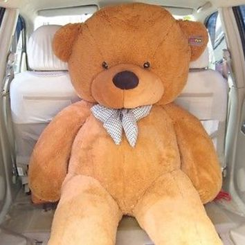 "Joyfay 78"" Giant Teddy Bear Light Brown Jumbo Lifesize Stuffed Bear 6.5ft 200cm"