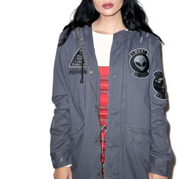 Disturbia Special Operations Parka Grey