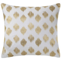 Abstract Dot Gold Pillow