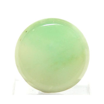 Gem Silica Chrysocolla in Chalcedony Silica Disc Round Cabochon 14 carats