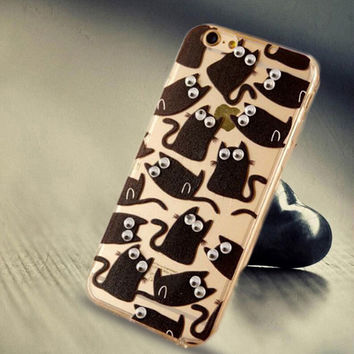 Limited Edition Black Cat Silicone iPhone 5s 6 6s Plus Case Cover Gift-114