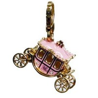 Juicy Couture - Princess Pink Carriage - Gold Plated Charm