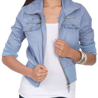 Elbow Sleeve Jacket - Teen Clothing by Wet Seal