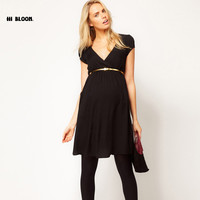 Elegant Bamboo Empire Waist Maternity Dress