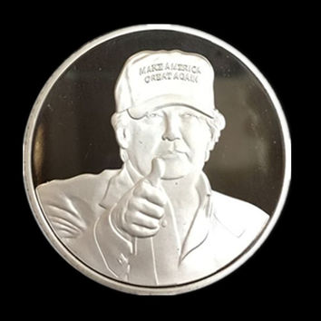 20 pcs/lot, The 2016 New York Candidate Trump silver plated replica souvenir coin