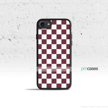 Checkerboard Maroon Phone Case Cover for Apple iPhone iPod Samsung Galaxy S & Note