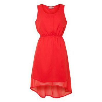 Red Hi-Lo Dress