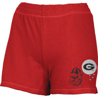 Georgia Bulldogs - Glitter Logo Girls Juvy Athletic Shorts