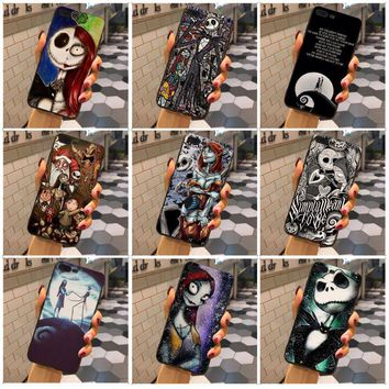 MaiYaCa The Nightmare Before Christmas Jack Skellington and Sally phone case For iphone 7 7plus X XR XS 8 8plus 6s 6plus 5 5s SE