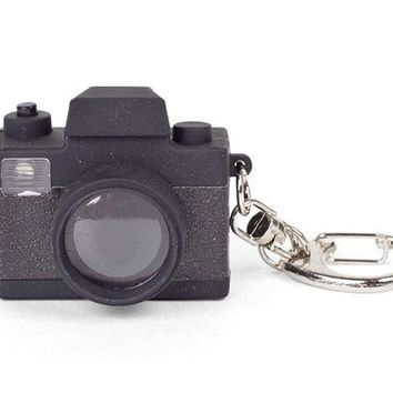 Camera LED Keychain - Kikkerland Design Inc