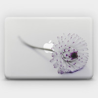 Transparent  Skin Sticker Decal for MacBook Air  13' MacBook Pro 13' 15' - White Daisy