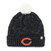 '47 Brand Chicago Bears Womens Navy Blue Fiona Cuff With Pom Knit Beanie