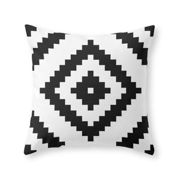 Society6 Black And White Throw Pillow