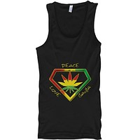 Peace Love Ganja Cannabis Weed