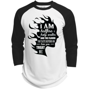 I Am Both Hellfire And Holy Water And The Flavor You Taste Depends On How You Treat Me Polyester Game Baseball Jersey