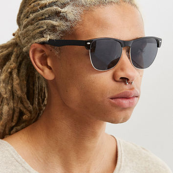 Large Half-Frame Sunglasses | Urban Outfitters