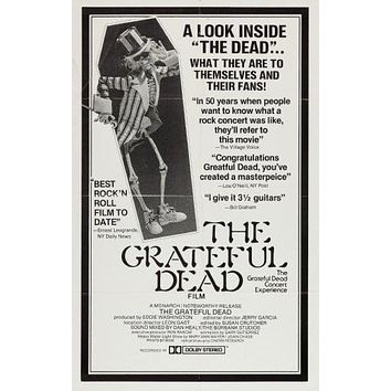 Grateful dead poster Metal Sign Wall Art 8in x 12in