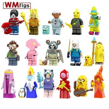 Single Sonic Legoings Adventure Time Ice King Banana Guard Jack Finn Flame Princess Building Blocks Girl Gifts Toys for Children