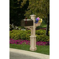 Mayne 5830C Westbrook Plus Clay Mailbox Post