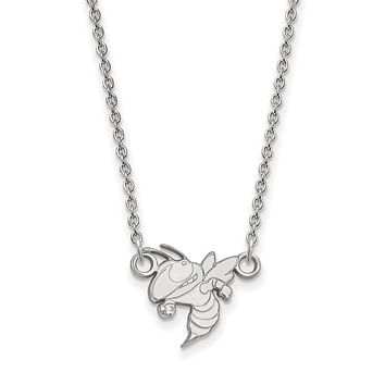 NCAA Sterling Silver Georgia Technology Small Pendant Necklace