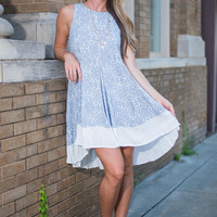 Natural Notes Dress, Blue