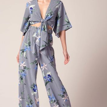 Mihalla Tie Front Jumpsuit