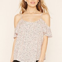 Splatter Off-the-Shoulder Top