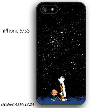 calvin and hobbes star moon iPhone 5 / 5S Case