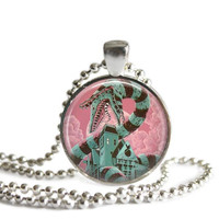 Beetlejuice Sandworm Necklace