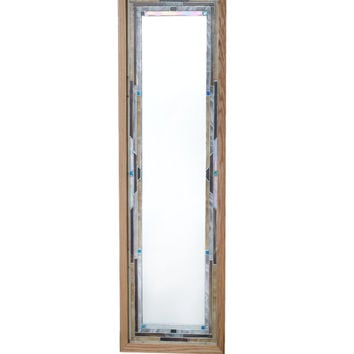 Decorative stained glass full length mirrors. Rich in color and texure, original linear designs complement any room decor.