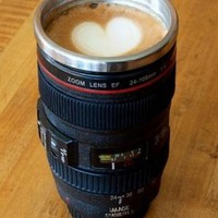Creative Stainless Steel Camera Lens Coffee Mugs
