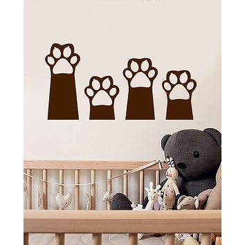 Vinyl Wall Decal Cat's Paws Cartoon Pet Home Animals Nursery Decor Stickers (2435ig)