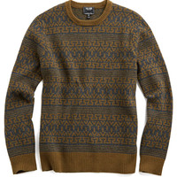 Wool Fairisle Sweater in Charcoal