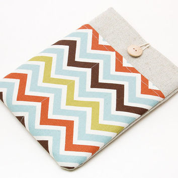 iPad sleeve. iPad mini with retina display or iPad AIR case with colorful chevron, sleeve, bag, pouch. Tablet case. iPad 1 2 3 4 cover.