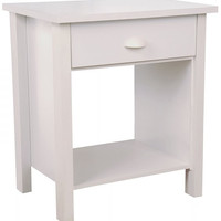 "Nouvelle Nightstand (White) (24.75""H x 21.25""W x 16""D)"