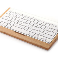 Wooden base for apple iMac G6 bluetooth keyboard