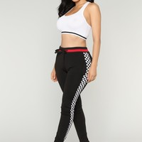 Race Me There Joggers - Black