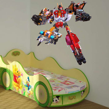 Full color decal Transformer sticker, Transformer wall art decal gc415