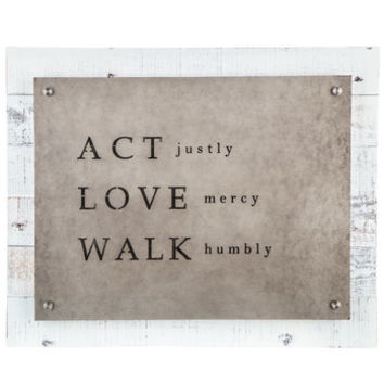 Act, Love & Walk Wood Wall Decor | Hobby Lobby | 5082482